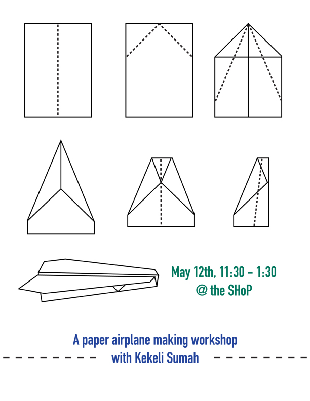 A paper airplane making workshop with kekeli sumah southside hub saturday malvernweather Images